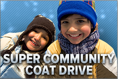 Donate a coat to keep someone warm